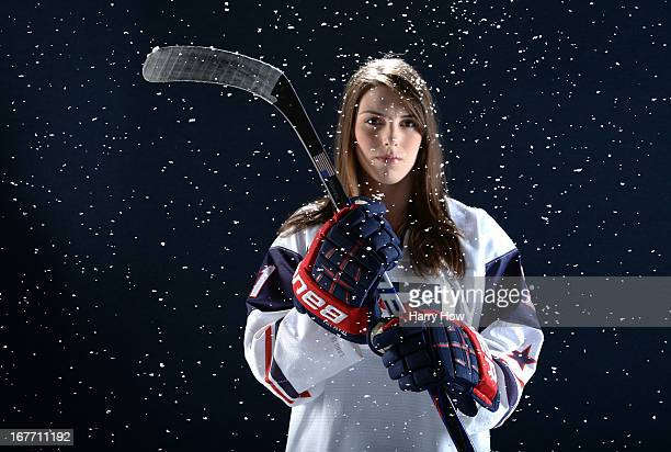 Ice hockey player Hilary Knight poses for a portrait during the USOC Portrait Shoot on April 27 2013 in West Hollywood California