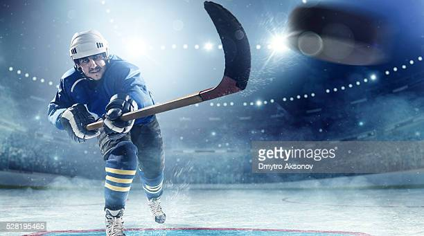Ice hockey-Spieler in Aktion