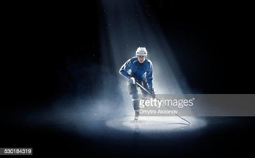 Ice hockey player is spotlight