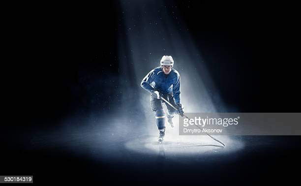 Ice hockey player is spotlight