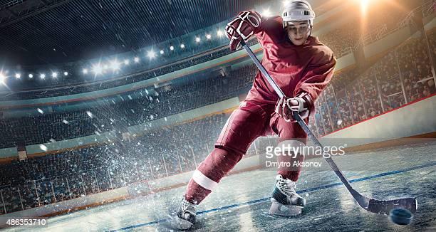Ice Hockey-Spieler auf Hockey Arena