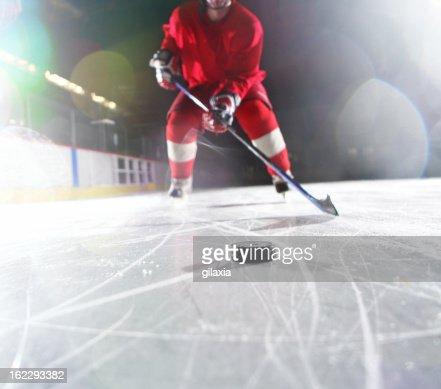 Ice hockey player.