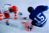 Ice hockey, players in face-off
