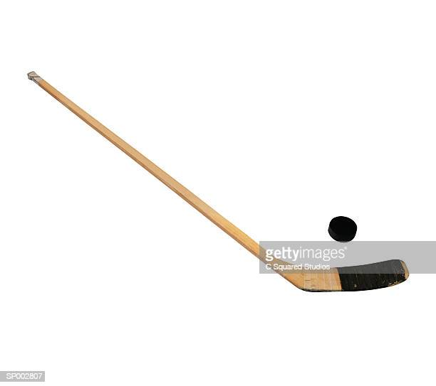 Ice Hockey Stick and Puck