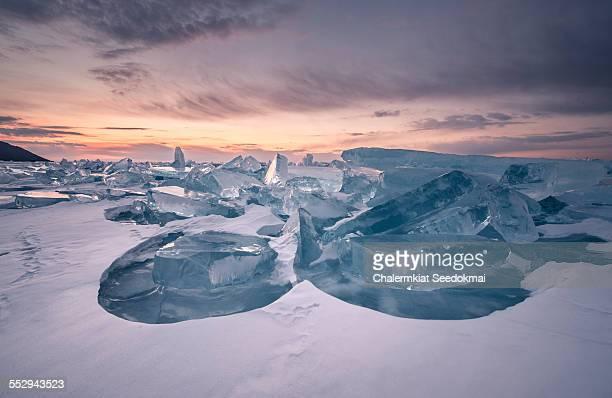 Ice in Lake Baikal