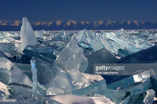 Ice labyrinth on Lake Baikal