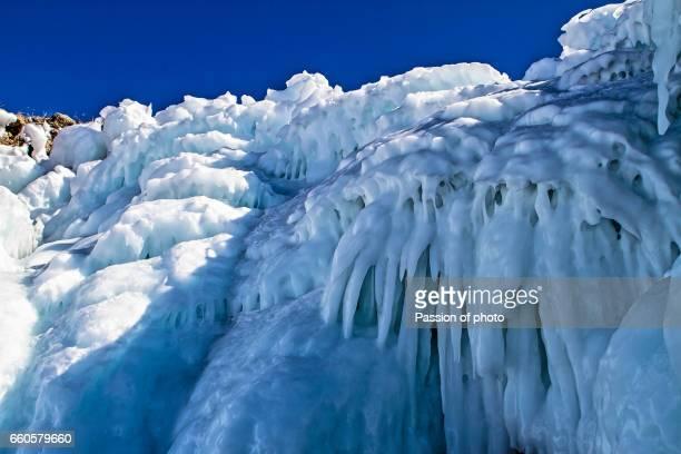 Ice miracles of lake Baikal