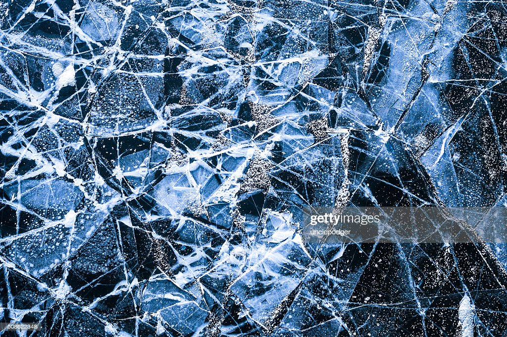 Ice on a river : Stock Photo
