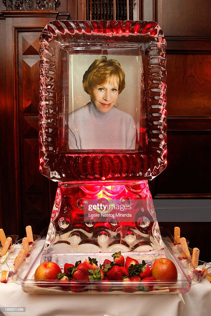 Ice sculpture by Celebrity Gourmet Catering Kurt Ehrlich at Carol Burnett Honored with The First Annual 'Carol Burnett Honor Of Distinction Award' at the El Capitan Theatre on January 10, 2013 in Hollywood, California.