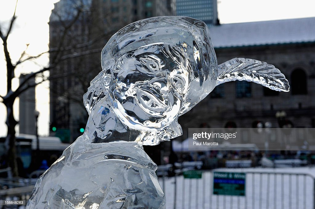 Ice Scuplture by Eric Fontecchio at First Night Boston 2013 on December 31, 2012 in Boston, Massachusetts.