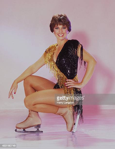 ice skater Dorothy Hamill poses for a portrait in 1984 in Los Angeles California