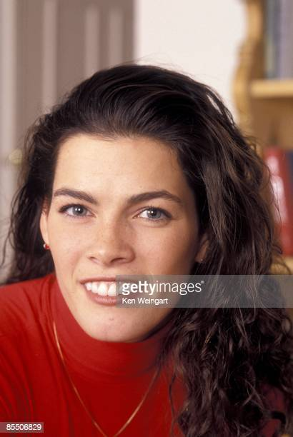 Ice skater Nancy Kerrigan poses for a portrait in 1994 in New York City New York