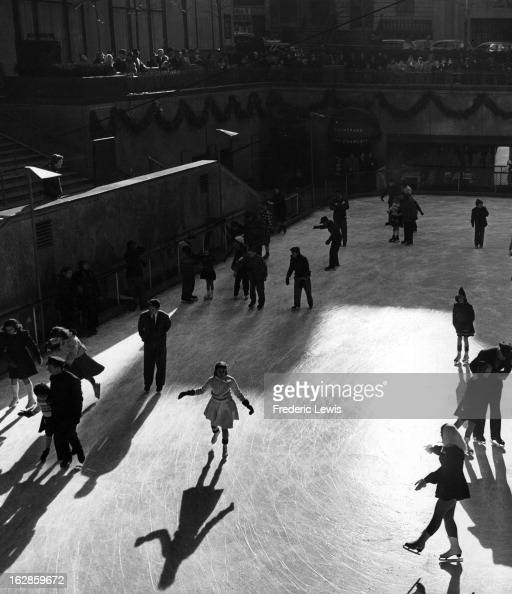 Ice Skating at Rockefeller Center New York City 1955