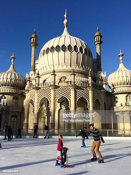 Ice skating at the Royal Pavilion in Brighton