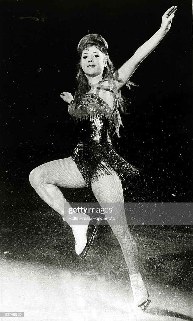 29th January 1963 West German ice skating star Ina Bauer pictured performing in Syracuse New York