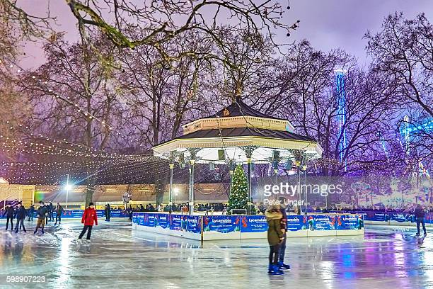 Ice skating rink at Winter Wonderland,London