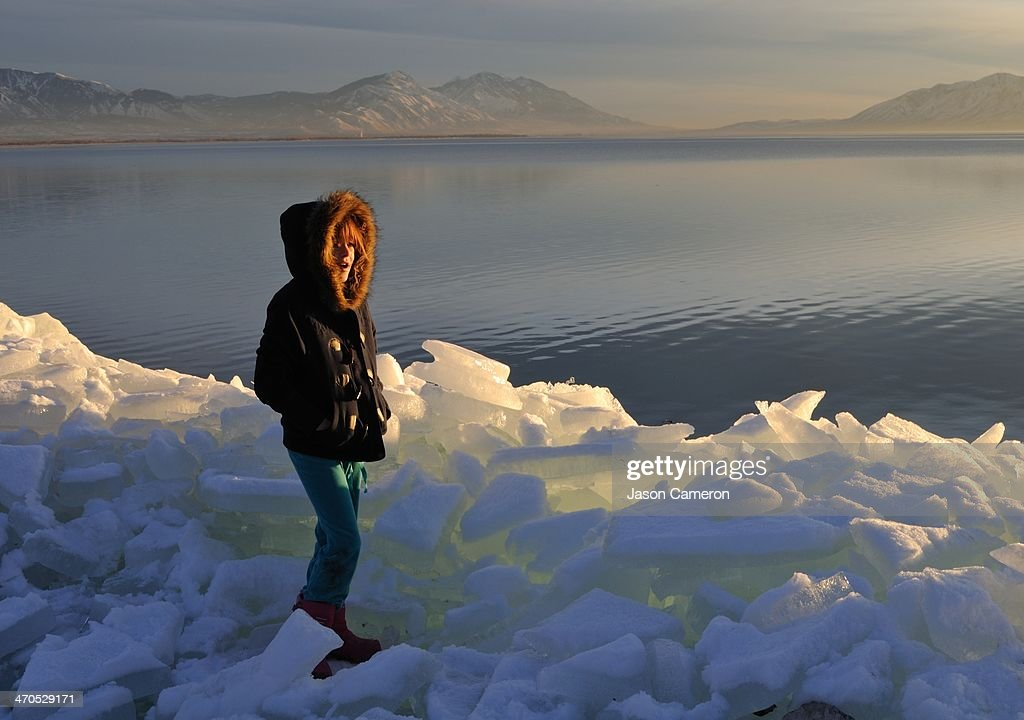 Ice Slices and Jane : Stock Photo