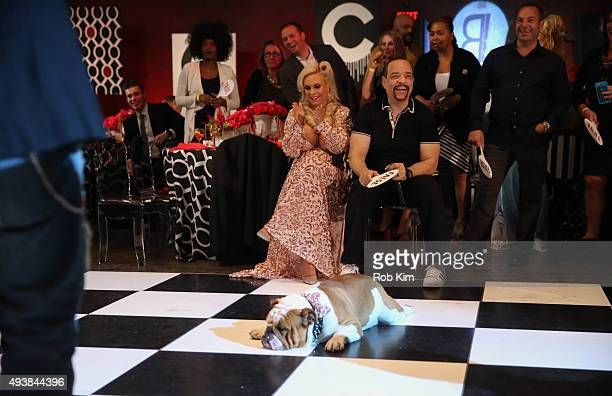 Ice T and Coco attend David Tutera's CELEBrations Ice T Coco's PreBirthday Party For Baby Chanel at Cedar Lake Events on October 22 2015 in New York...