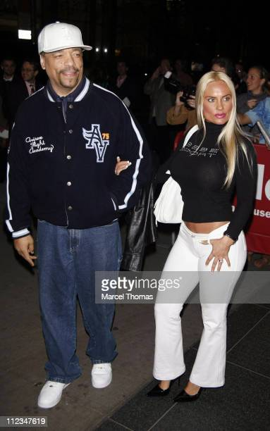 Ice T and Coco during 'Blood Diamond' New York Screening Outside Arrivals at MoMa in New York City New York United States
