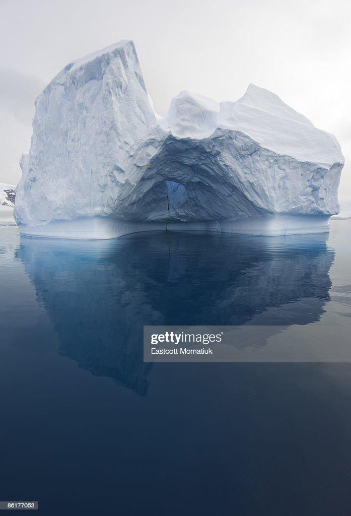 iceberg and reflections, Antarctic Peninsula