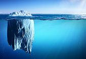 Iceberg floating in Polar Sea