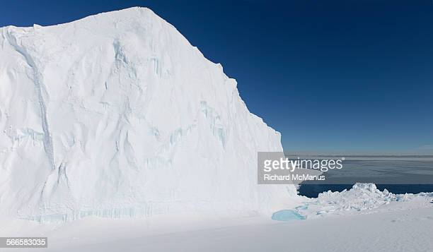 Iceberg at the ice floe edge.