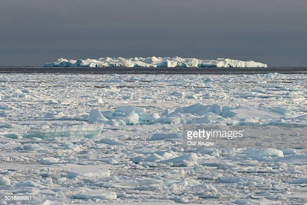 Iceberg, edge of pack-ice, Arctic Ocean, Spitsbergen Island, Svalbard Archipelago, Svalbard and Jan Mayen, Norway