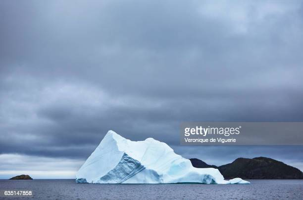 Iceberg off the coast of Newfoundland Canada As more icebergs drift south due to climate change a few enterprising seafarers have begun harvesting...