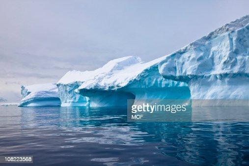 Iceberg, Paradise Bay, Antarctica : Stock Photo