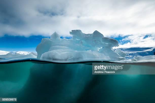 Iceberg underwater view, Cierva Cove