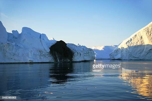 Iceberg with black basal ice, Ilulissat, Greenland