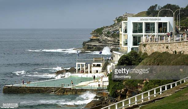 Icebergs Dining Room and Bar is perched on the southern headland of Bondi Beach in Sydney Australia March 21 2007 Early arrivals can watch surfers...