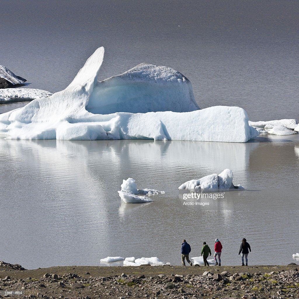 Icebergs Glacial Lagoon : Stock Photo