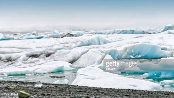 Icebergs In Glacier Lagoon In Jokulsarlon, Iceland