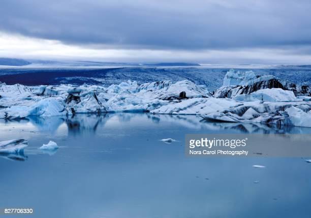 Icebergs in Jokulsarlon Lagoon, Iceland.