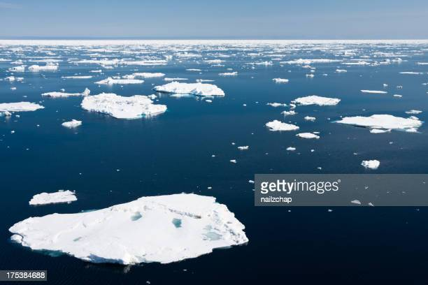 Icebergs no Ártico