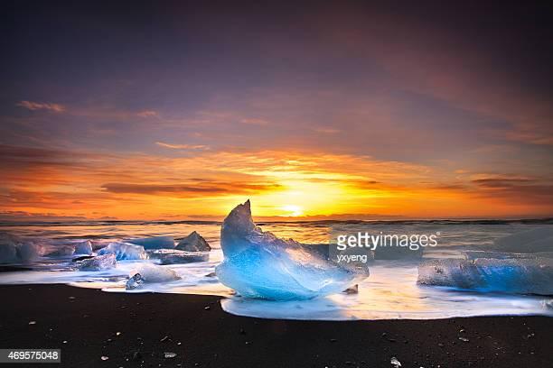 Eisberge von Jökulsárlón Beach