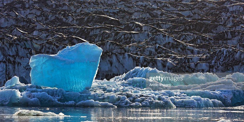 Icebergs on Jokulsarlon Glacial Lagoon : Stock Photo