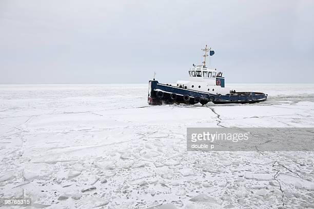 Icebreaker in dutch waters