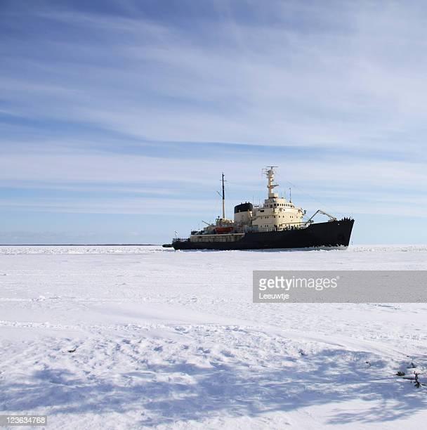 icebreaker in icefield polar area