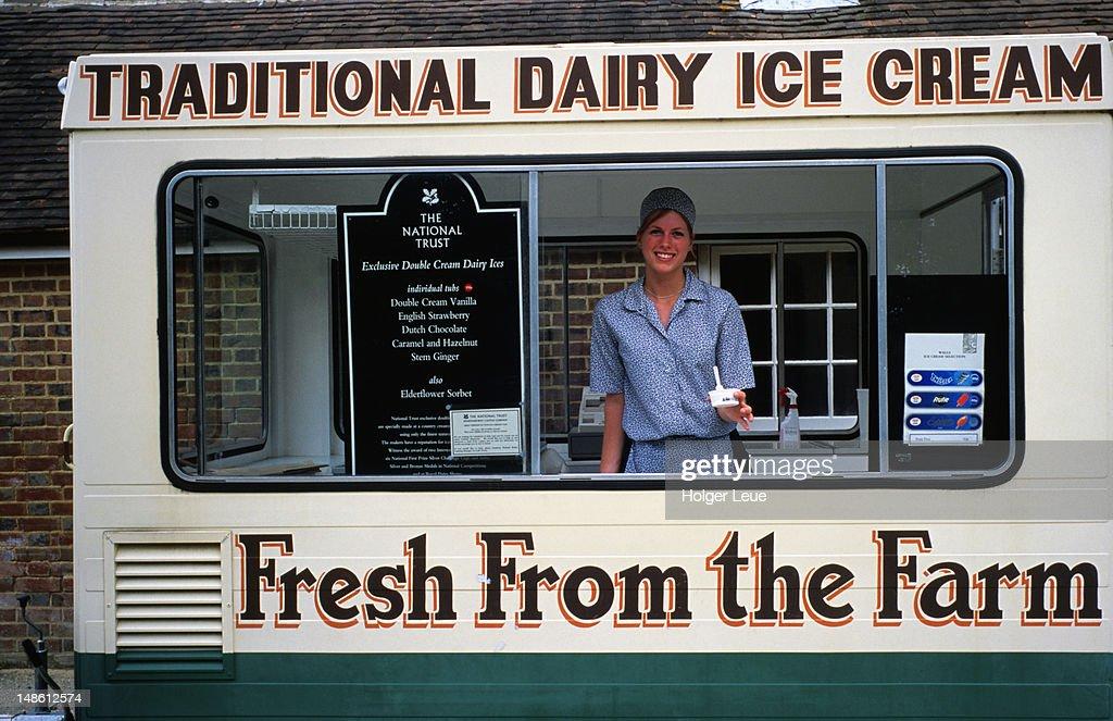 Ice-cream stand, Sissinghurst Castle Gardens.