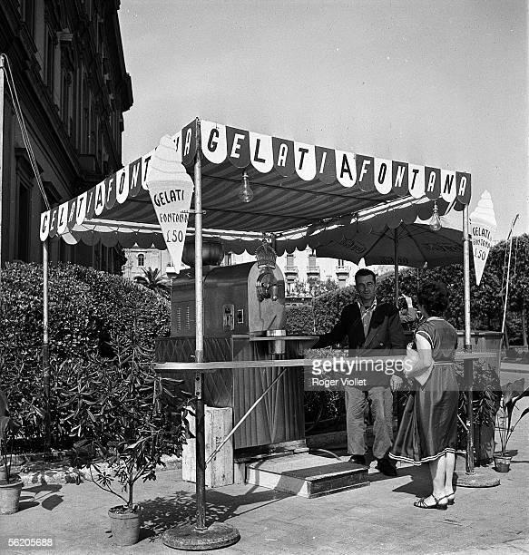 Icecream vendor Bari May 1952