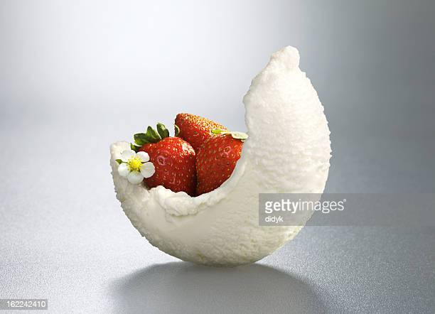 Ice-cream with decoration