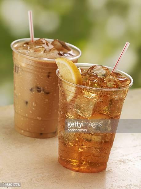 Eiskaffee und Tee