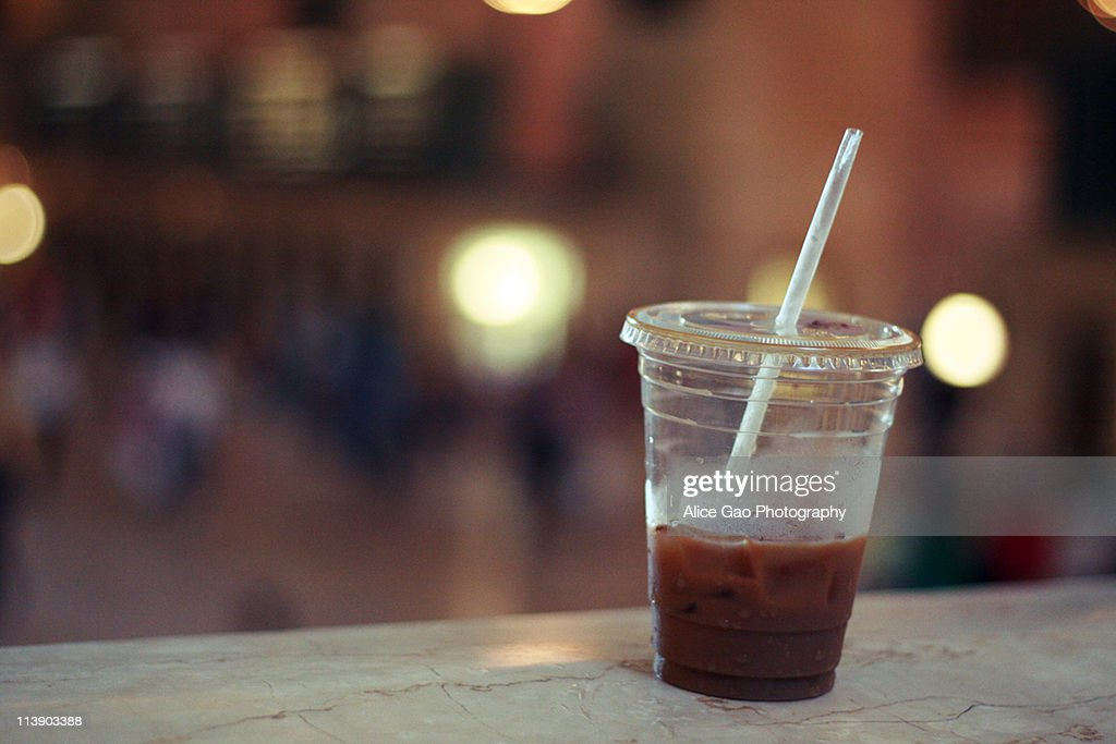 Iced coffee at Grand Central Terminal