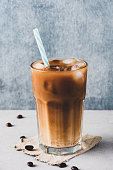 Iced coffee background