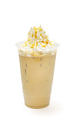 It is iced latte with cream.
