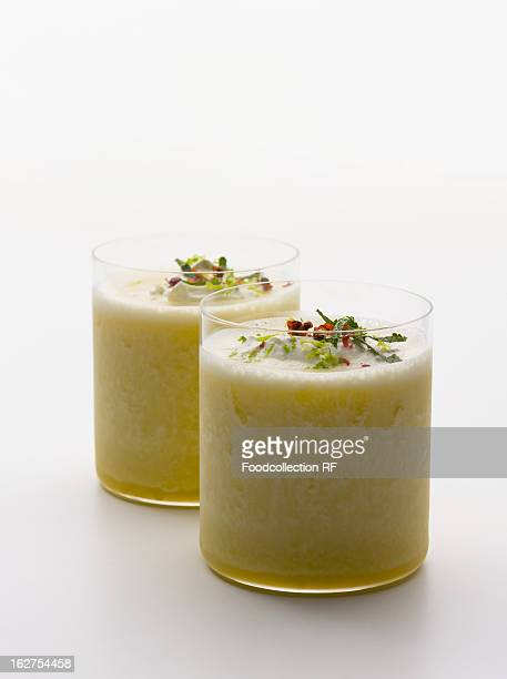 Iced pineapple drink
