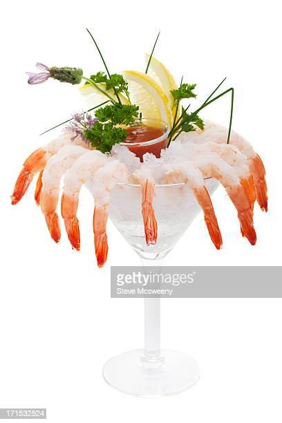 Iced shrimp cocktail