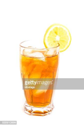 El té helado de limón corte : Foto de stock